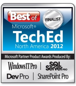 Best of Microsoft TechEd 2012 Finalist