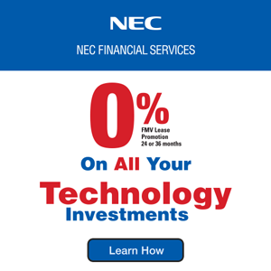 Get 0% Financing from NEC