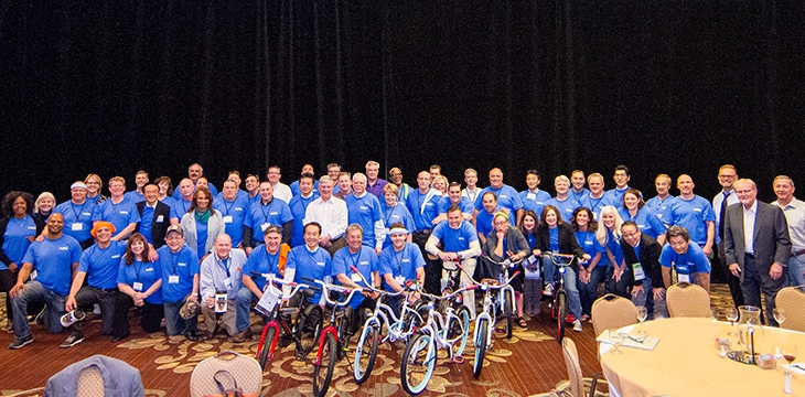NEC Builds Bikes and Team Bonds during Annual Sales Conference