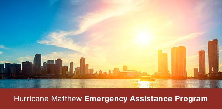 Hurricane Matthew Emergency Assistance Program