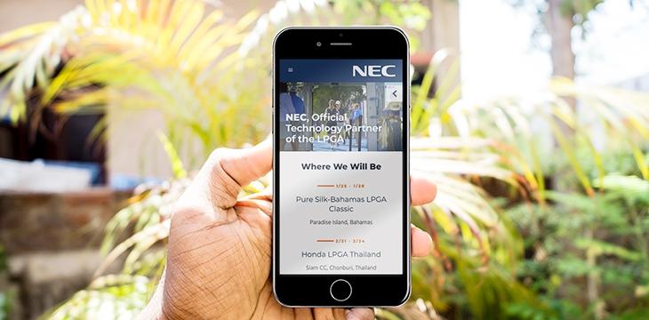 Announcing NEC's New LPGA Microsite