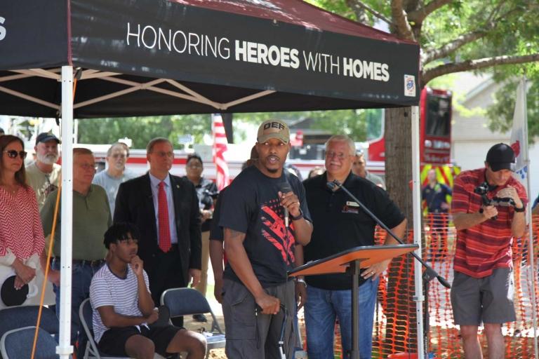 Veteran Eric King receives mortgage free home