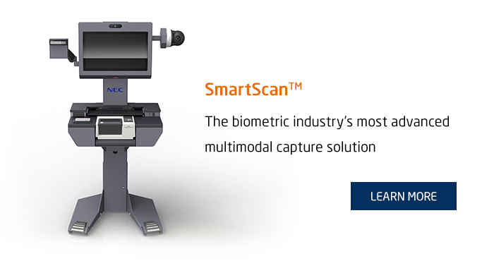 SmartScan™ The biometric industry's most advanced multimodal capture solution - Learn More