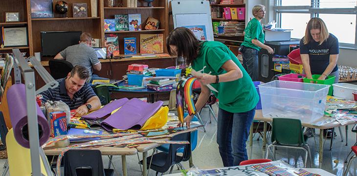 Stock the School Volunteer Event