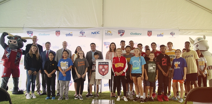 NEC Partners with NSHOF, FC Dallas and Frisco ISD to introduce the STEAM FC Experience for Middle School Students